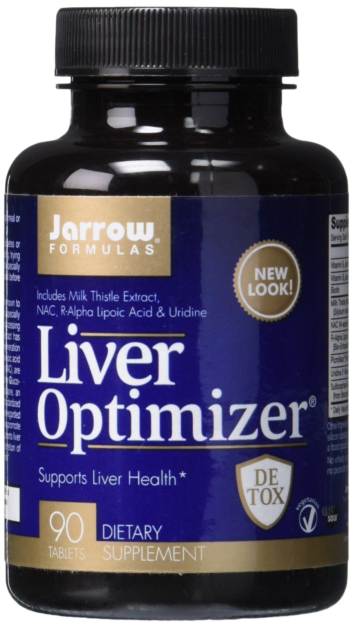Jarrow Formulas Liver Optimizer, Supports Liver Health, 90 Easy-Solv Tabs