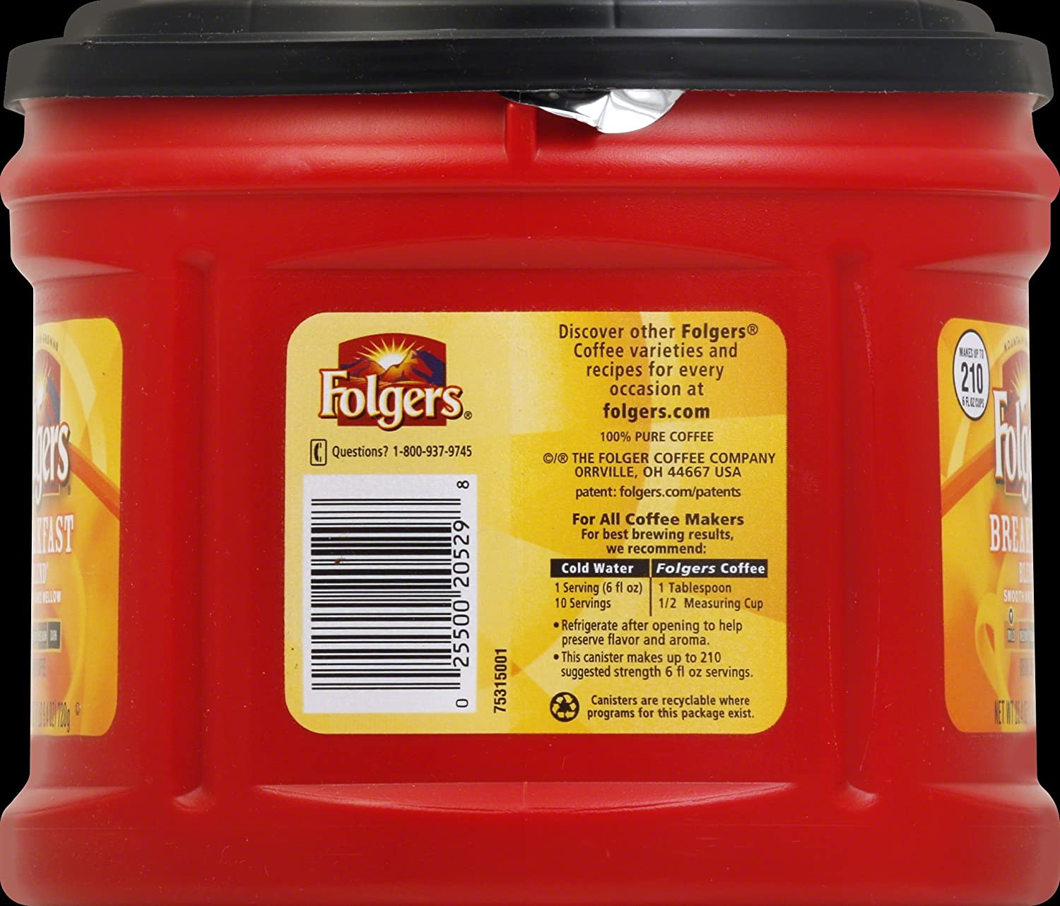Folgers Coffee Nutrition Facts Caffeine Besto Blog