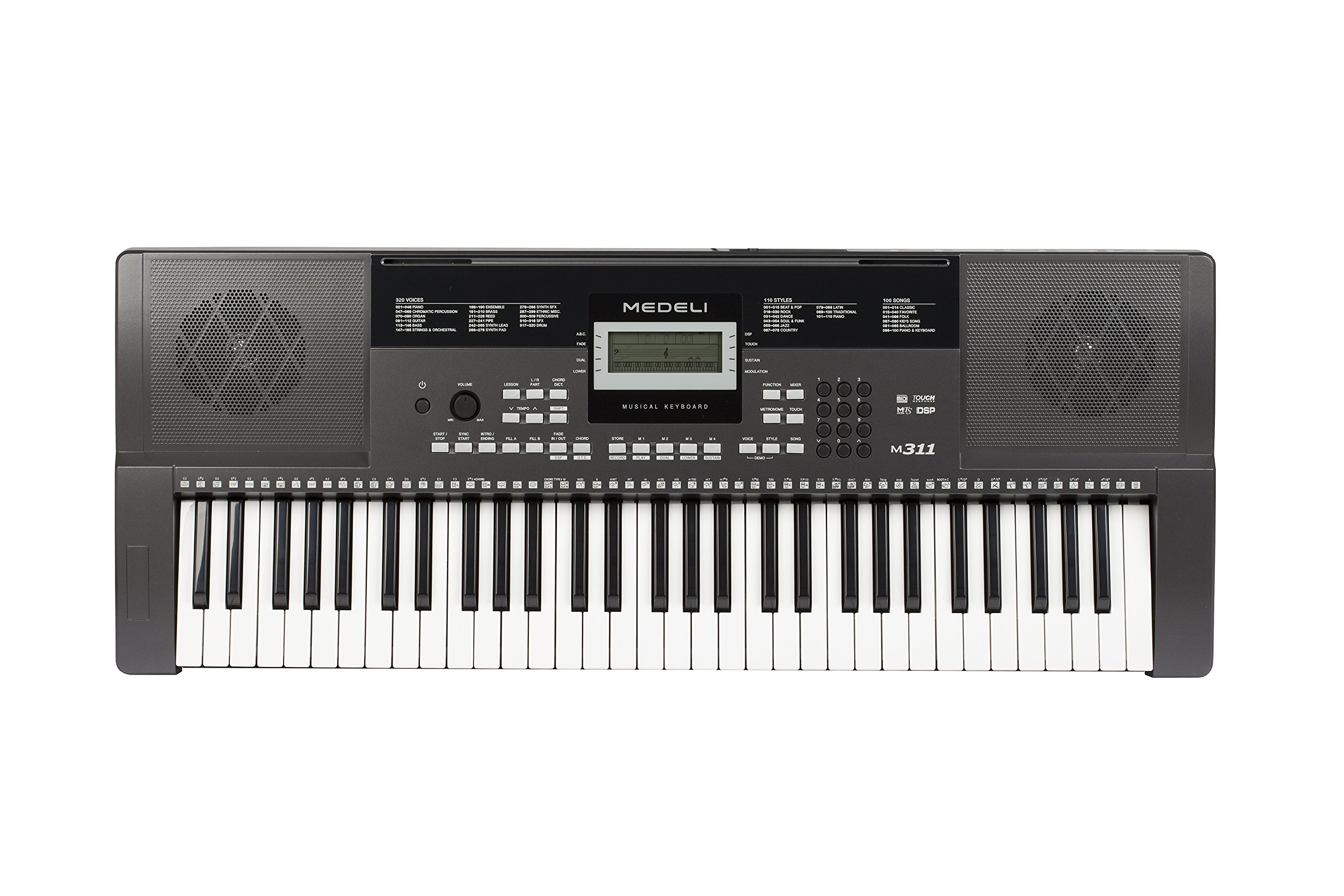 Medeli M311 Electronic Keyboard by Medeli (Image #1)