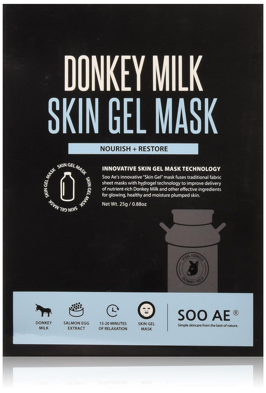 Amazon.com: Soo AE burro leche piel máscara de Gel hojas ...