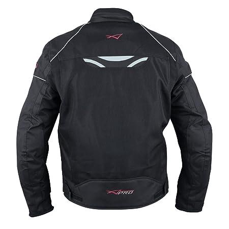 cd486cf182a Chaqueta Moto Sport Transpirable Ventilada Protecciones CE Verano Negro S   Amazon.es  Coche y moto