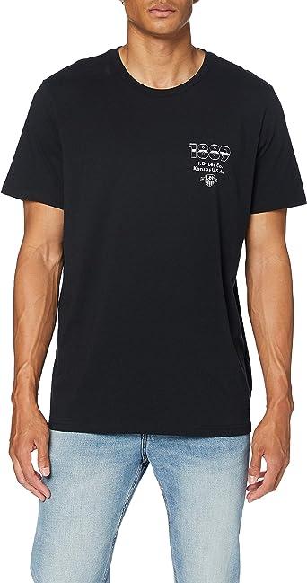 TALLA S. Lee Seasonal Logo tee Camisa para Hombre