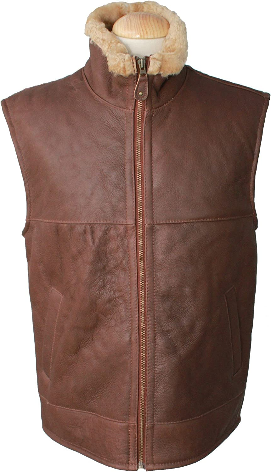 Eastern Counties Leather Mens Harvey Sheepskin Gilet At Amazon Men S Clothing Store