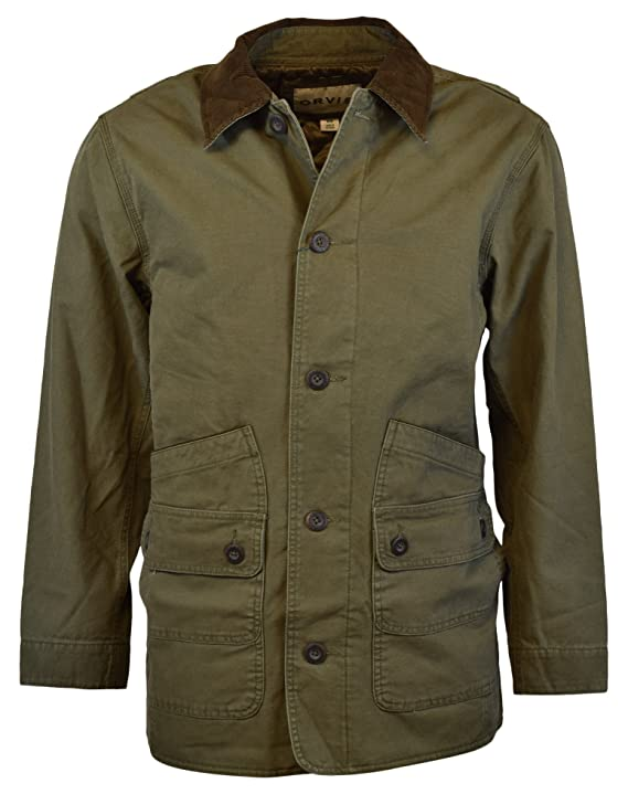 Orvis Mens Corduroy Collar Cotton Barn Jacket