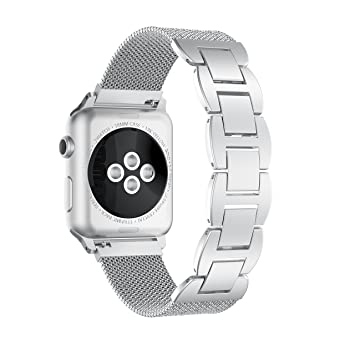 TOPsic Correa Apple Watch 42mm Milanese Pulsera iWatch de Acero Inoxidable, Correa Milanese Loop de Reemplazo Brazalete iWatch con cadena de metal ...