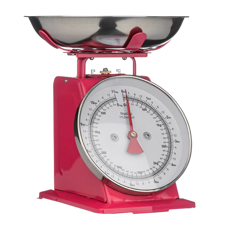 Amazon.com: Premier Housewares Retro Kitchen Scale   5 Kg   Red Hot Pink:  Home U0026 Kitchen