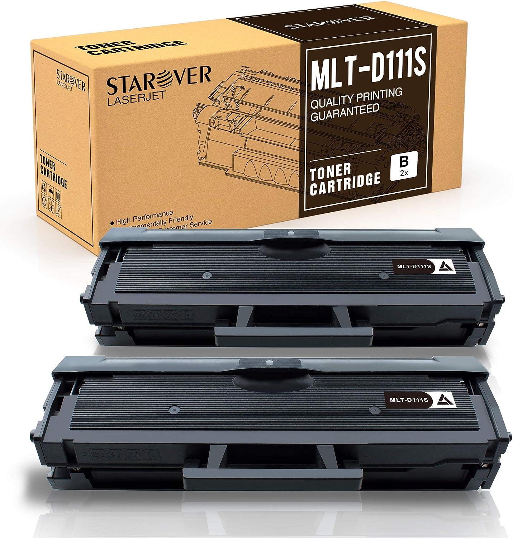 Starover Mlt D111s Kompatibel Toner Ersatz Für Samsung Mlt D111s D111s Für Samsung Xpress M2070 M2070w M2070fw M2026 M2026w M2020 M2020w M2022 M2022w M2070f Schwarz 2er Pack Bürobedarf Schreibwaren