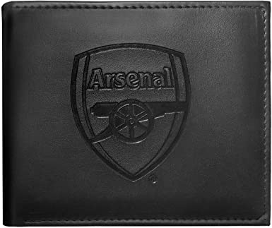 Amazon Com Arsenal Fc Official Soccer Gift Embossed Crest Money Wallet Black Clothing