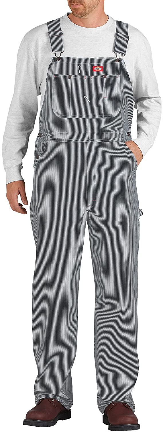 1920s Men's Pants, Trousers, Plus Fours, Knickers Dickies Mens Hickory Stripe Bib Overall $34.99 AT vintagedancer.com
