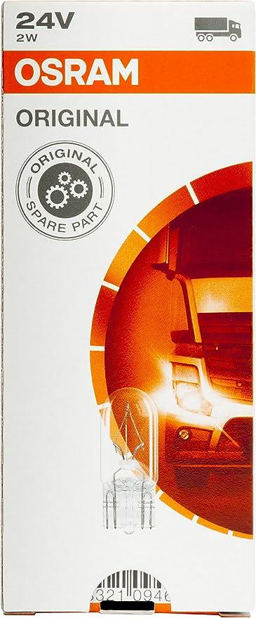 24/V Osram 2840 Original Culot W2.1X9.5D Bo/îte Pliante de 10