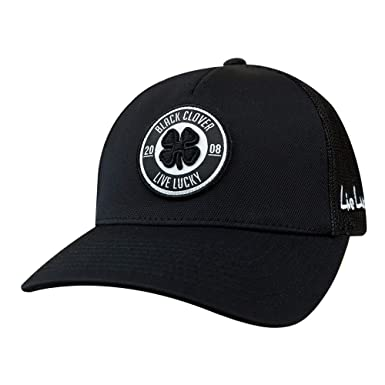 5dac1b60a7c75b Black Clover Anniversary Patch Adjustable Snapback Hat (Black/Black ...