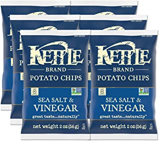product image for Kettle Brand Potato Chips, Sea Salt and Vinegar, 2-Ounce Bags, 6 Count