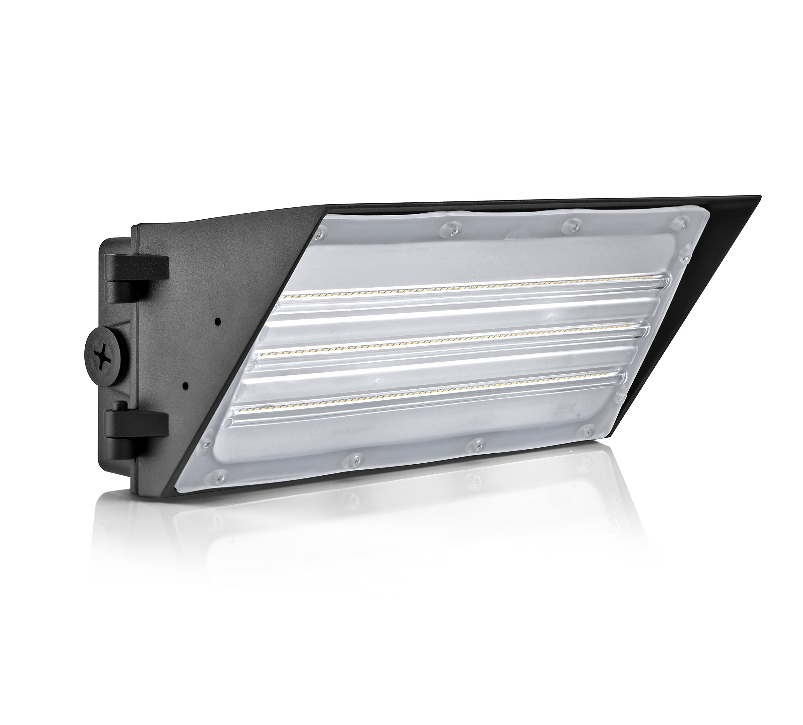 Hyperikon LED Wall Pack 40W Cut Off Fixture, 280W HPS/HID Replacement, 5000K, 5440 Lumens, Waterproof and Outdoor Rated, DLC 4.2 & UL Listed