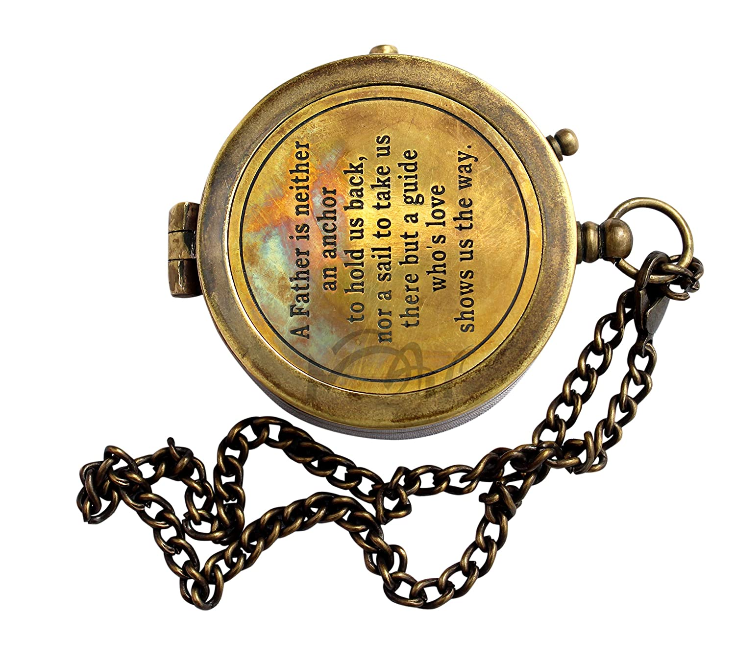 MAH Father Compass//A Beautiful Quote for Father//Gift for Father//Fathers Birthday Gift C-3276