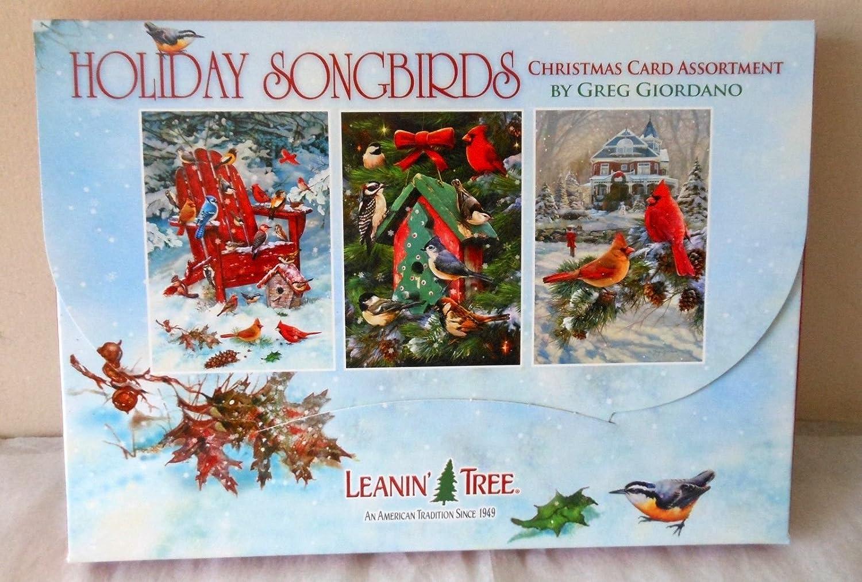 Amazon.com : Leanin Tree Christmas Greeting Cards HOLIDAY SONGBIRDS ...