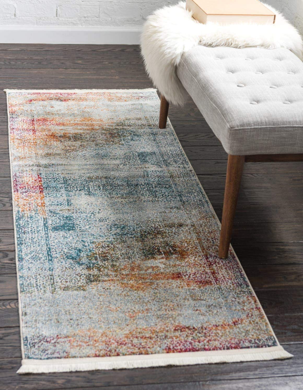 Unique Loom Baracoa Collection Bright Tones Vintage Traditional Multi Runner Rug 2 7 x 10 0