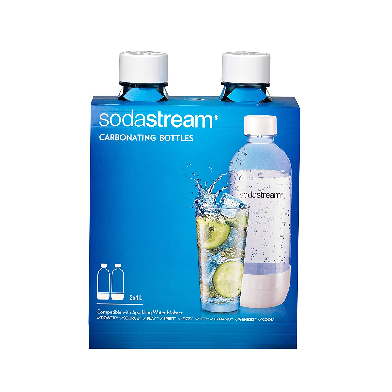 Sodastream 1l Carbonating Bottles- Black (Twin Pack) SodaStream USA 1100958011