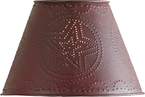 Park Designs Metal Star Shade – 10 – Red
