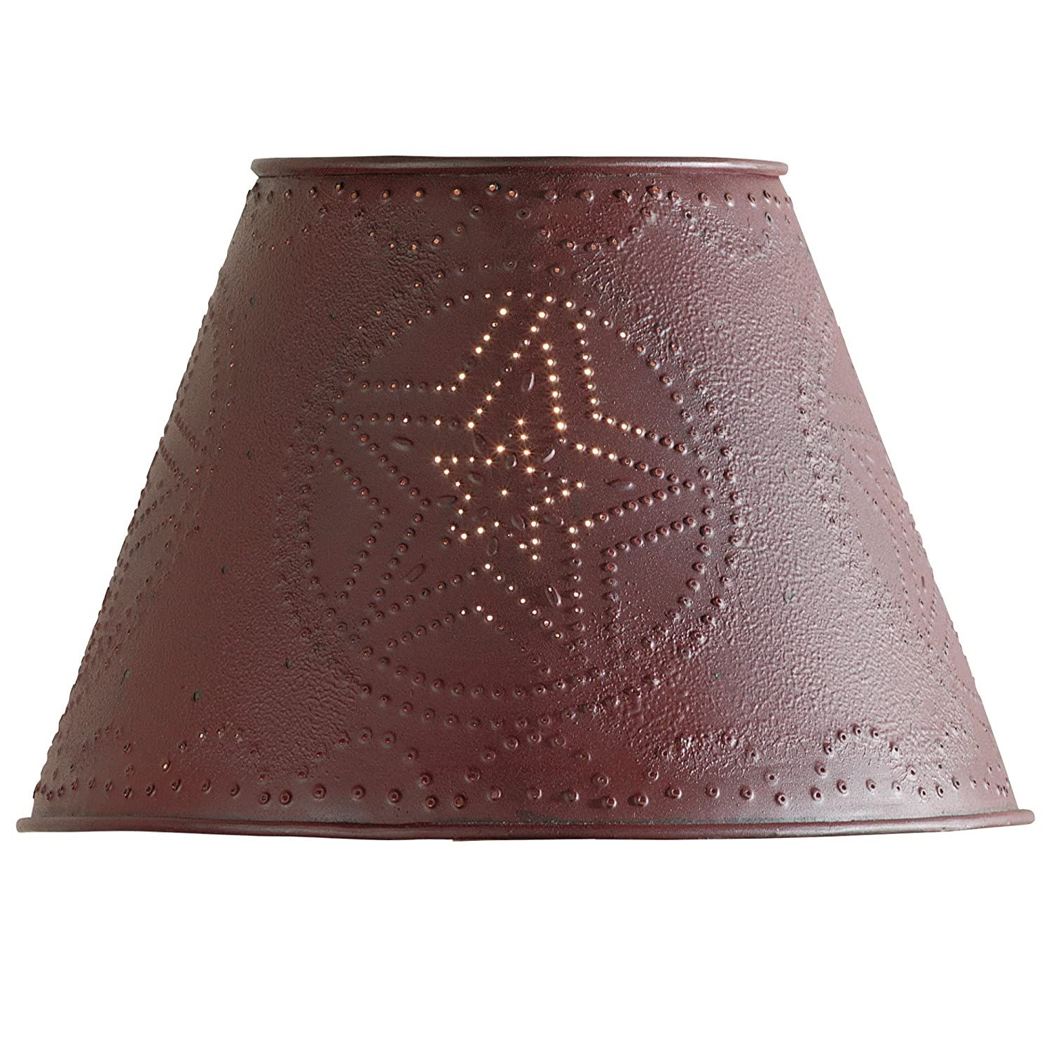 Red star punched tin 12 lamp shade lampshades amazon aloadofball Image collections