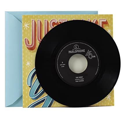 Amazon Hallmark Birthday Greeting Card With Vinyl Record Real Tina Turner 45 And 2 Songs Office Products
