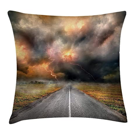lsrIYzy Nature Throw Funda de cojín, Dusty Storm Clouds and ...