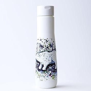 Botella de agua de caña de azúcar sostenible: 100% reciclable, reutilizable, libre