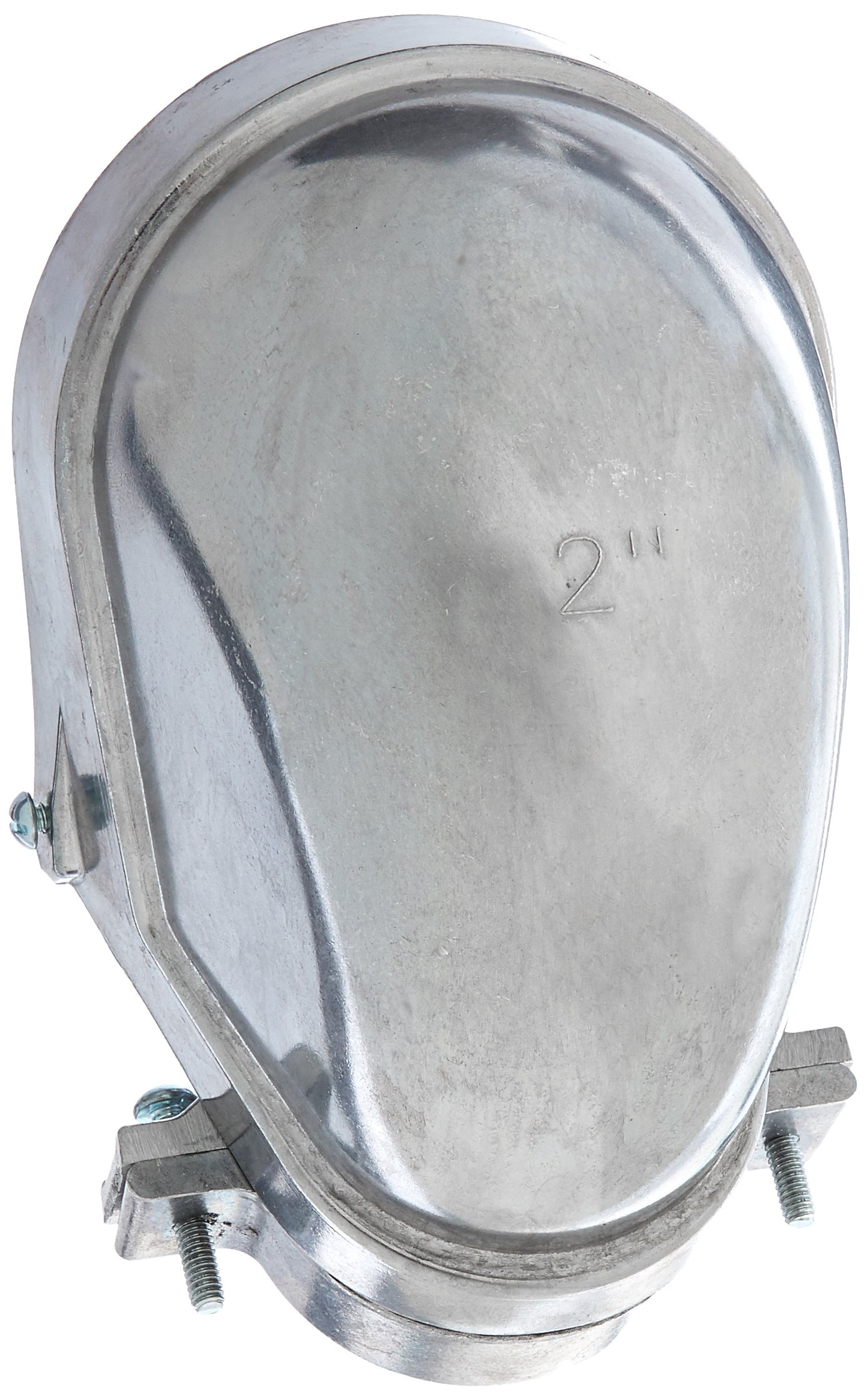 Hubbell-Raco 2408-5 Entrance Head, Clamp-Type, 2-Inch Trade Size, EMT or Rigid/IMC, Aluminum
