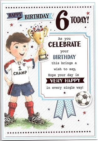 Birthday Card For Six 6 Year Old Boy