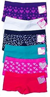 5de9d8935 Amazon.com: Disney Girls Boyshort Assorted Underwear Pack of 6 - Set ...