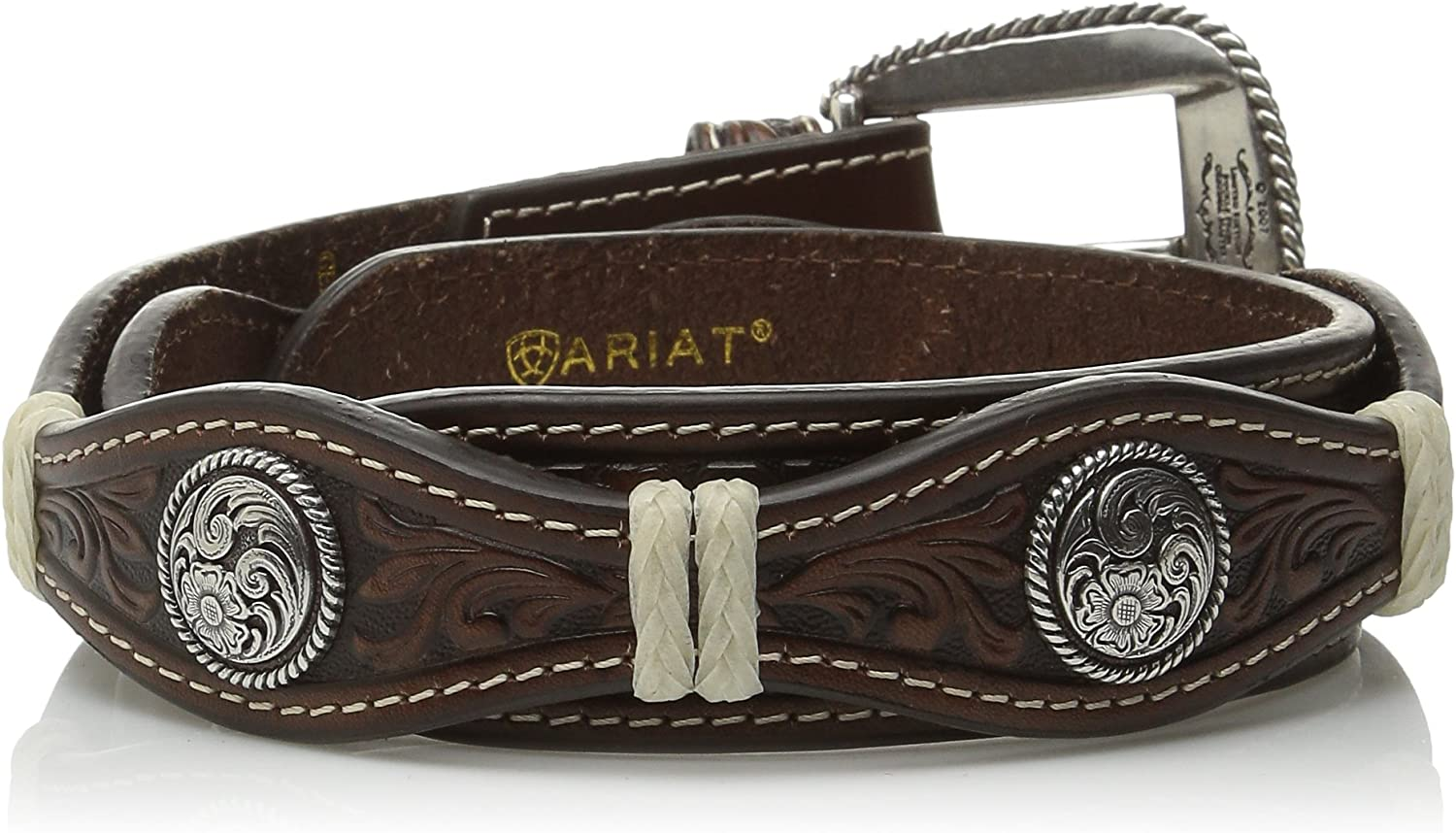 Ariat Mens Small Circle Concho Scalop Brown