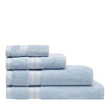 Home collection azul y Hygro Toallas de algodón egipcio, algodón, azul claro, Toalla