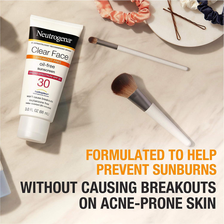 Neutrogena Face Liquid Sunscreen for Acne-Prone Skin
