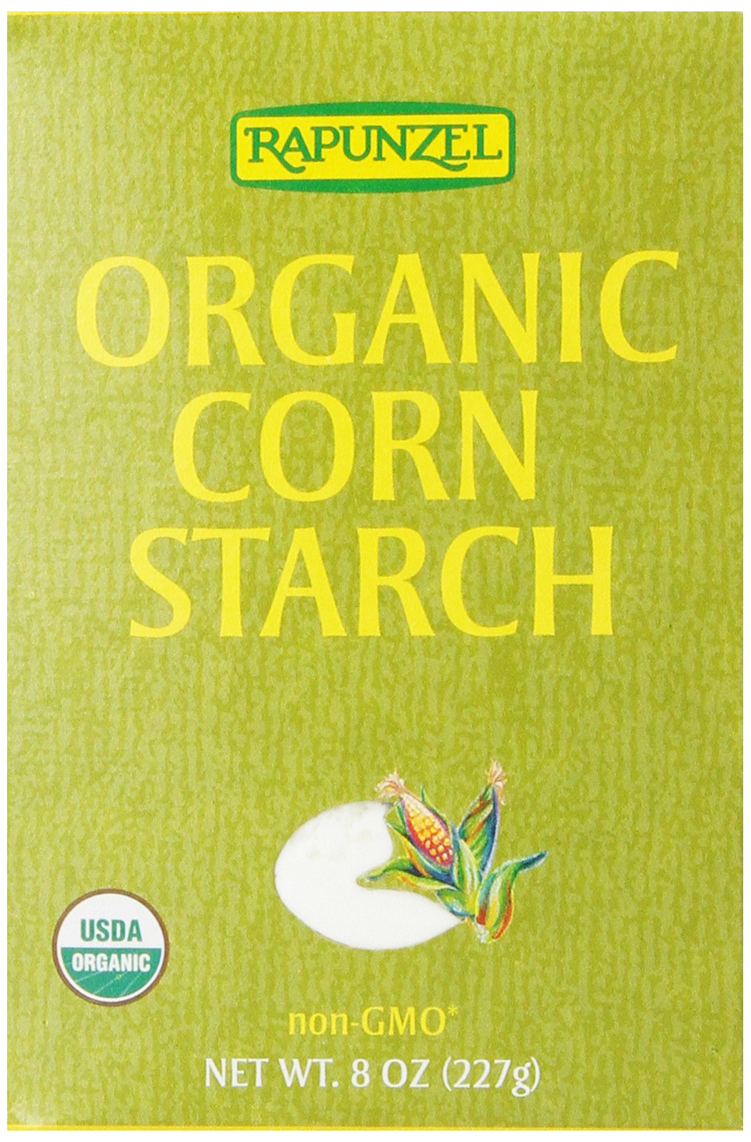 Rapunzel Pure Organic Corn Starch, 8-Ounce Boxes (Pack of 6)