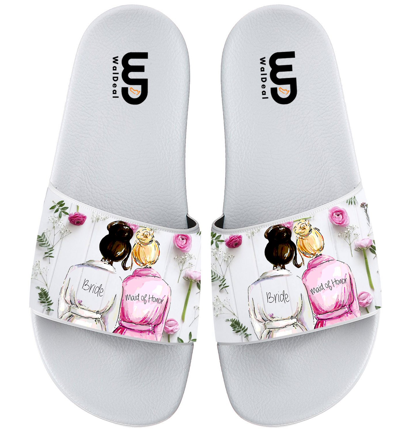 Bride with Maid Of Honor Gift Summer Slide Slippers For Boy Girl Outdoor Beach Sandal Shoes size 13
