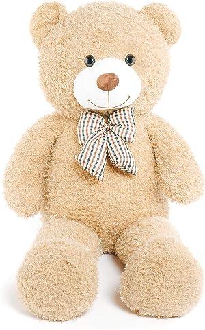 DOLDOA Big Teddy Bear Stuffed Animals Plush Toy for Girlfriend Children (47 inch, Tan)