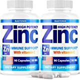 (2 Pack) Zіnс Picolinate 50Mg with Vіtаmіn C for Immune Support Booster - Zіnс Supplement for Men, Women, Kids - Good…