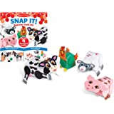MELISSA & DOUG Barnyard Snap It Craft Kit, 1 EA