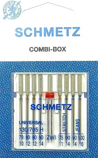 Schmetz - Juego de Agujas para máquina de Coser (9 Unidades ...