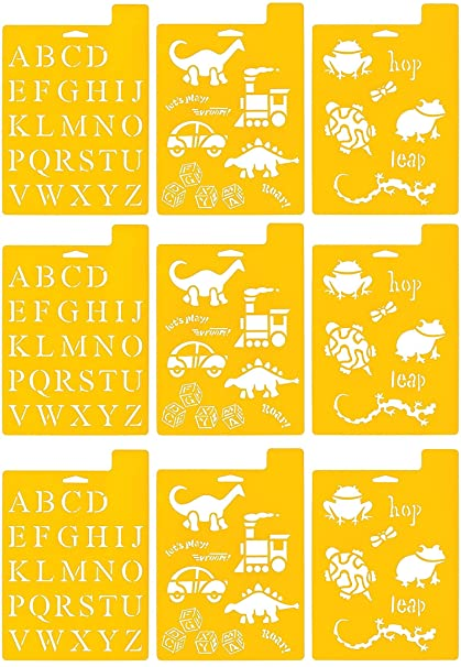 970810710 Fun Shapes Delta Creative Stencil Mania Stencil 7 by 10-Inch