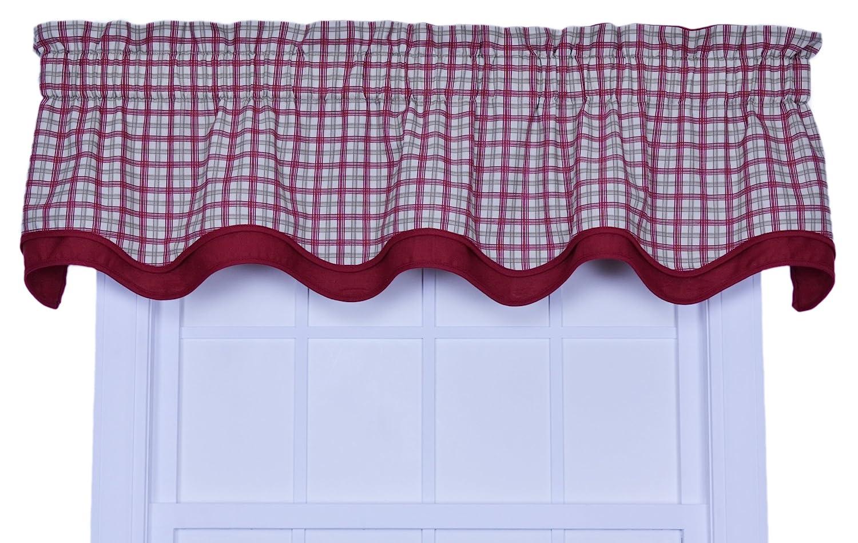 Amazon.com: Ellis Curtain Bristol Collection Two Tone Plaid Bradford Valance  Window Curtain, Blue: Home U0026 Kitchen
