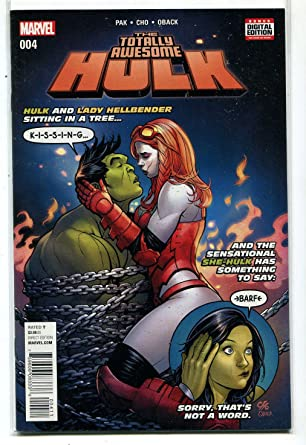 Amazon com: The Totally Awesome Hulk #4 NM Hulk And Lady
