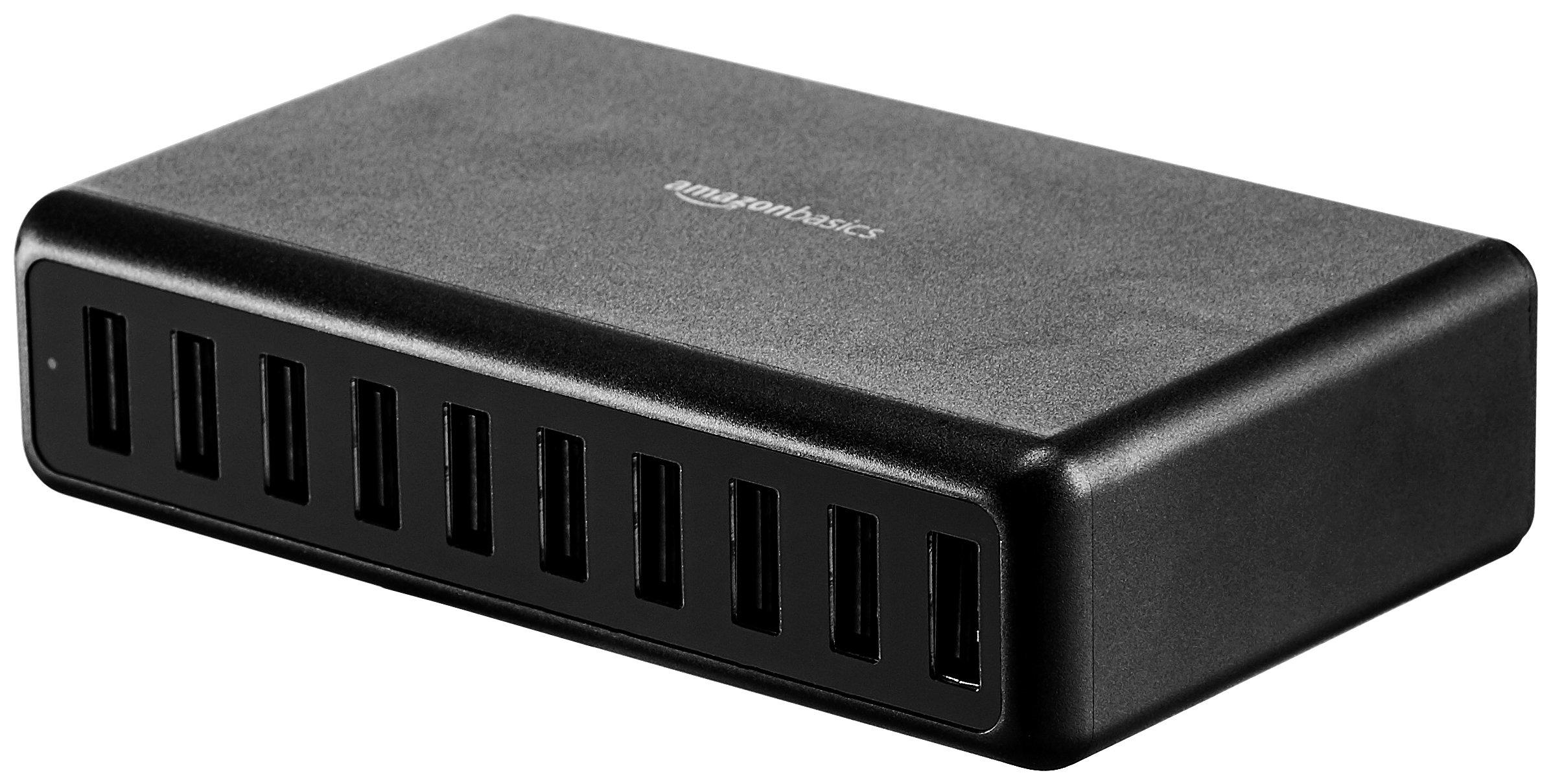 AmazonBasics 60W 10-Port Multi USB Wall Charger, Black by AmazonBasics