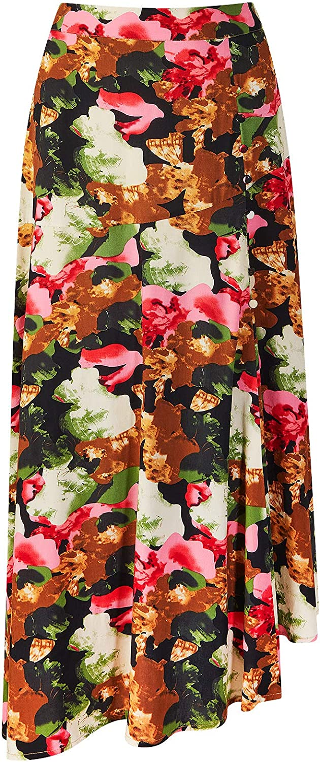 Joe Browns Womens Quirky Abstract Floral Print Midi Skirt Multicoloured