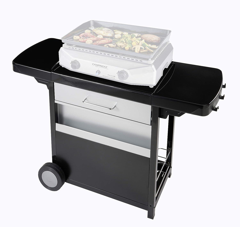 Campingaz - Carrito para plancha de mesa, carrito con ruedas, práctico para plancha Blue Flame y plancha Master Campingaz y cocina exterior