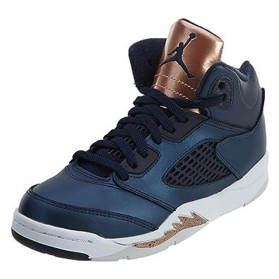 on sale e50e2 c8622 Nike Baby Boys Jordan 5 Retro BP Bronze Medal Obsidian/White-Bronze Leather