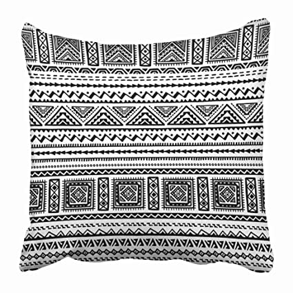 dc4c16943ddc71 Emvency Decorative Throw Pillow Covers Cases Aztec in Ethnic Style Stripe  Design Boho All Are Cropped