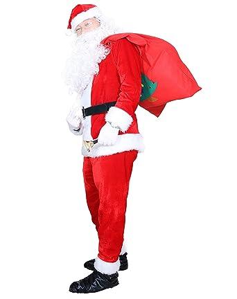 Amazon.com: Zarara Papá Noel disfraces disfraz, Santa trajes ...