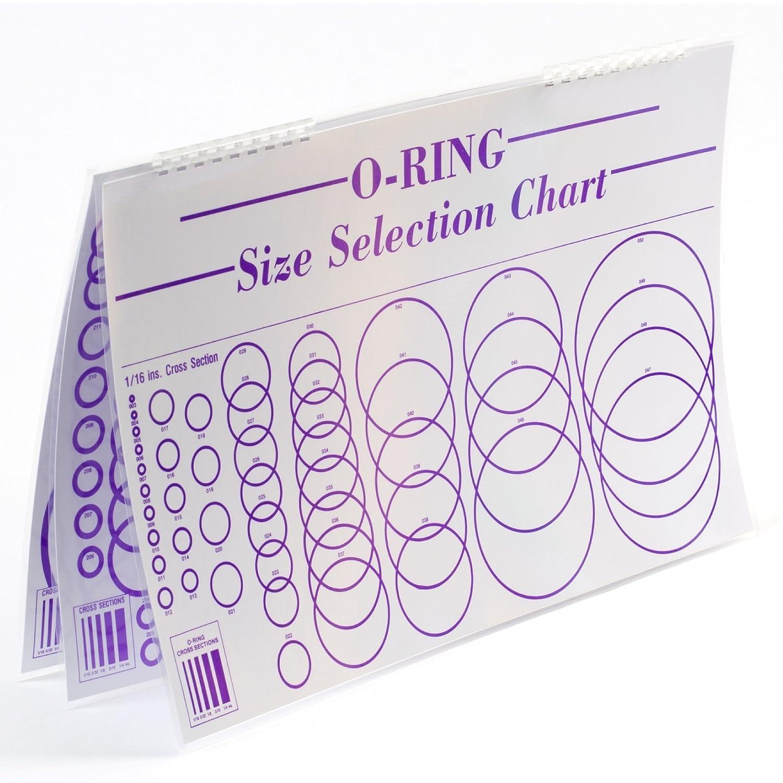 Small Parts O Ring Sizing Chart Laminated 3 Sheets Paper And