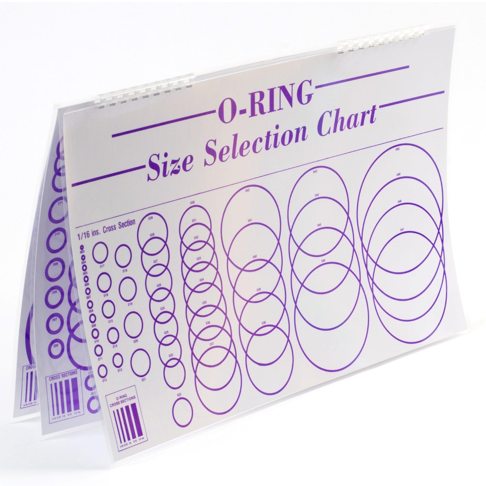 Small Parts O-Ring Sizing Chart, Laminated, 3 Sheets, Paper and Plastic