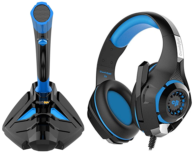 Cosmic Byte Alien Gaming Microphone + Cosmic Byte GS410 Headphones with Mic